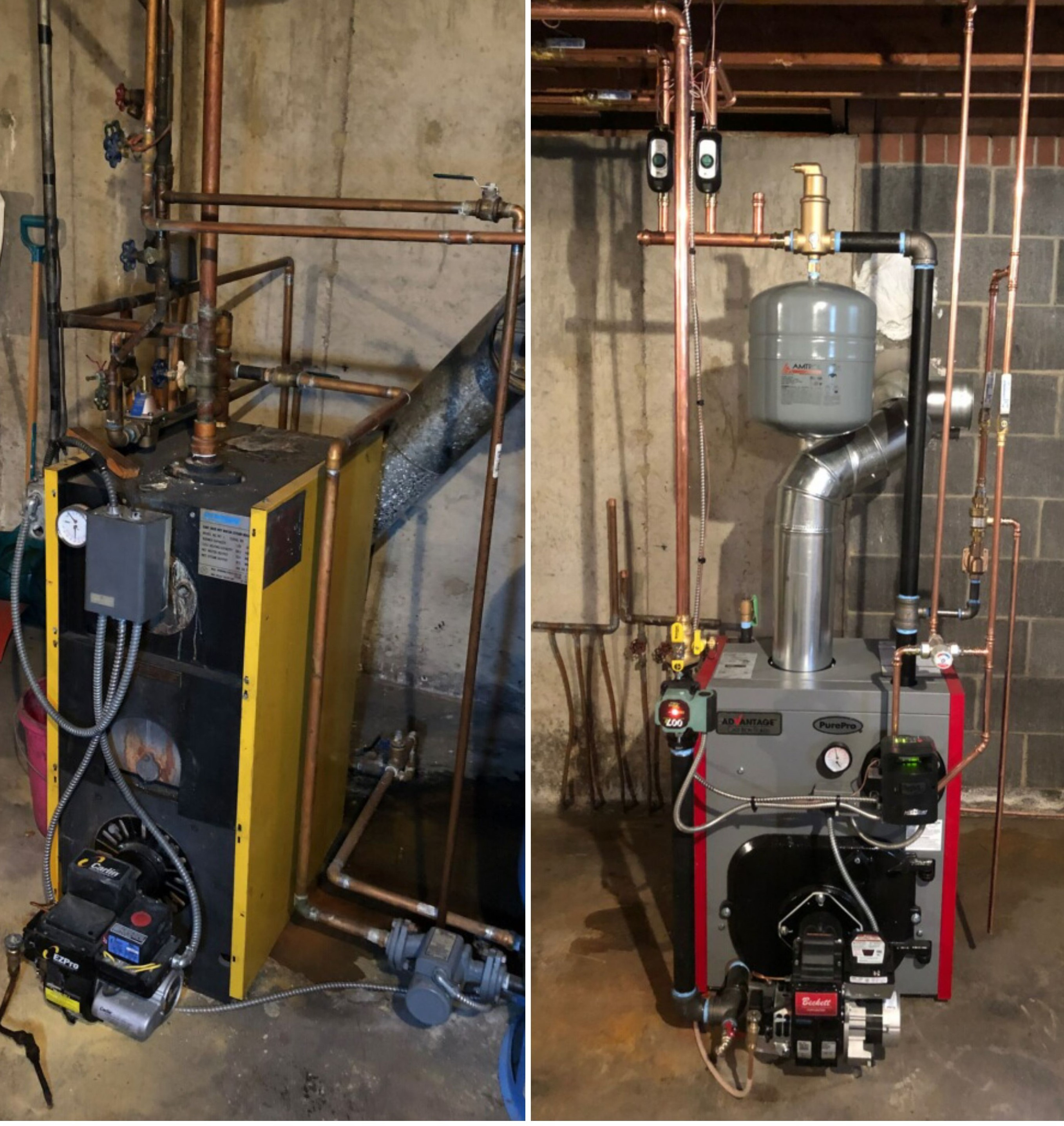 Before and After Furnace